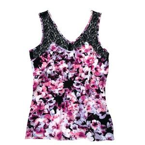 Lace & Floral Camisole Tank Top